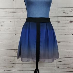 NWT Blue Ombre Above the Knee Skirt